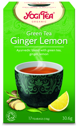 Green Tea with Ginger and Lemon at Paul's Natural foods shop UK