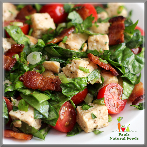 Warm salad of Chicken and Bacon with Rapeseed Oil
